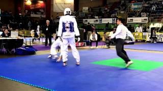 Open international Taekwondo Poitiers 2017 Cyril VS Rodrigue (V1 -80 kg)
