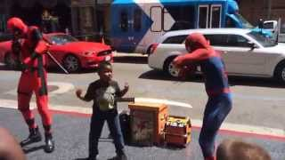 Hollywood Boulevard Nae Nae - Featuring Spiderman, Deadpool and Rad Kid