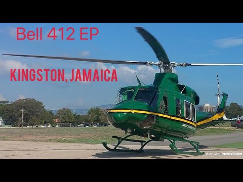 Bell 412 Takeoff and Approach (Jamaica Defence Force, Up Park Camp, Kingston, Jamaica)
