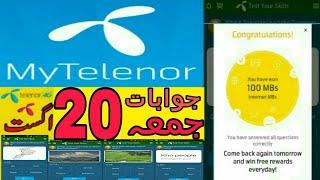 My Telenor/Telenor questions today/telenor quiz/20 august 2021 screenshot 5
