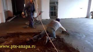 Устройство полусухой стяжки(Устройство полусухой стяжки, стяжка, бетонные полы, промышленные технологии строительства., 2011-06-27T23:55:30.000Z)