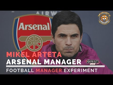 Mikel Arteta Arsenal Manager | Football Manager Experiment