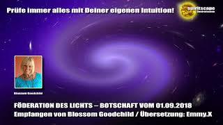 Blossom Goodchild - Föderation des Lichts - Botschaft vom 01.09.18
