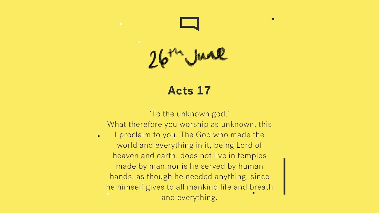 Daily Devotion with Matt Davis // Acts 17 Cover Image