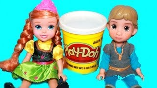 Young Kristoff & Anna FIRST MEET Disney Frozen Toddler Dolls Play-Doh AllToyCollector