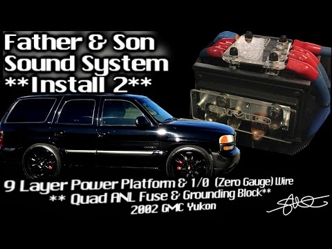 9 Layer Power Platform - Father & Son Sound System Install 2 - Quad ANL Fuse Holder & Ground Block