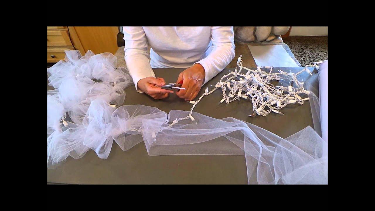 DIY Light Tulle Garland - YouTube