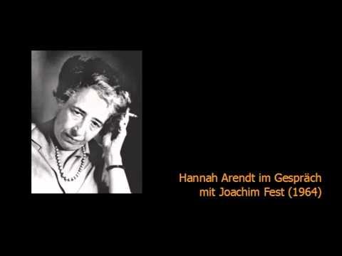 Hannah Arendt im Gespräch mit Joachim Fest (1964)