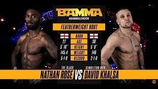 BAMMA 34: Nathan Rose vs David Khalsa