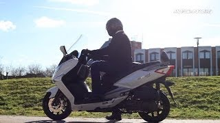 Essai SYM GTS 125 ABS Stop and Start 2014