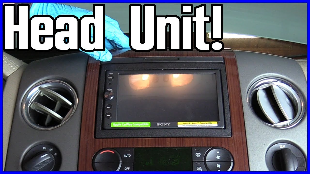 small resolution of how to install a radio head unit ford f 150 2004 2008
