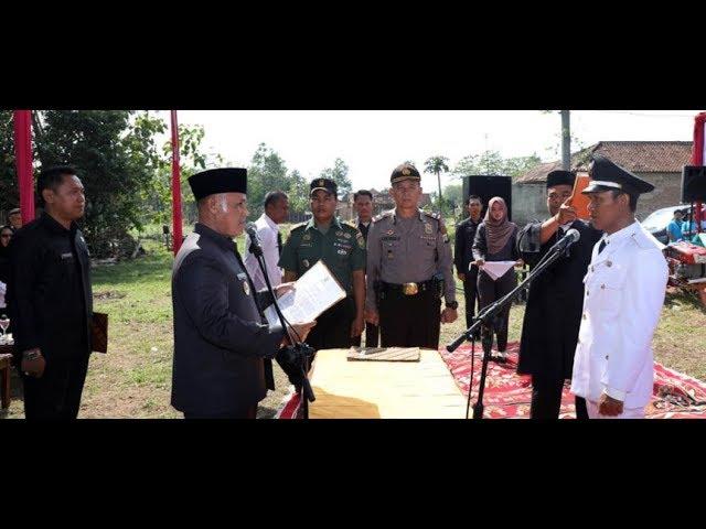 Nanang Lantik Kades PAW Gedung Harapan Kecamatan Jati Agung