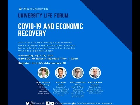 University Life Forum: COVID-19 and Economic Recovery