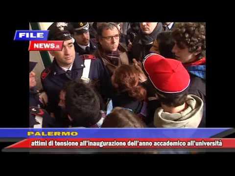 tafferugli università Palermo, inaugurazione anno accademico