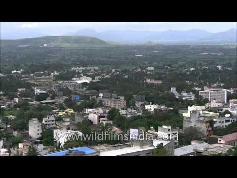 View of Satara City experiencing cloudy whether, Maharashtra