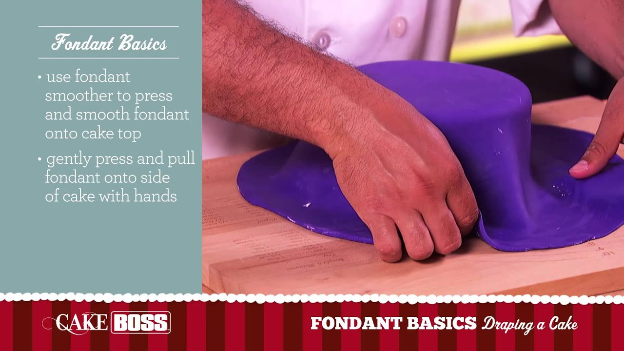 How To Drape a Cake - Fondant Basics Part 3 - Cake Boss ...