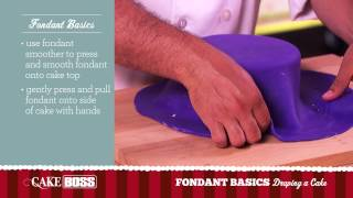 How To Drape a Cake - Fondant Basics Part 3 - Cake Boss Baking