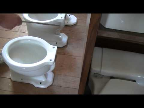 How To Tell The Rough In Of Your Antique Toilet Bowl