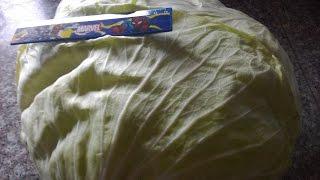 Как быстро подготовить листья для голубцов.Как снять листья с капусты.