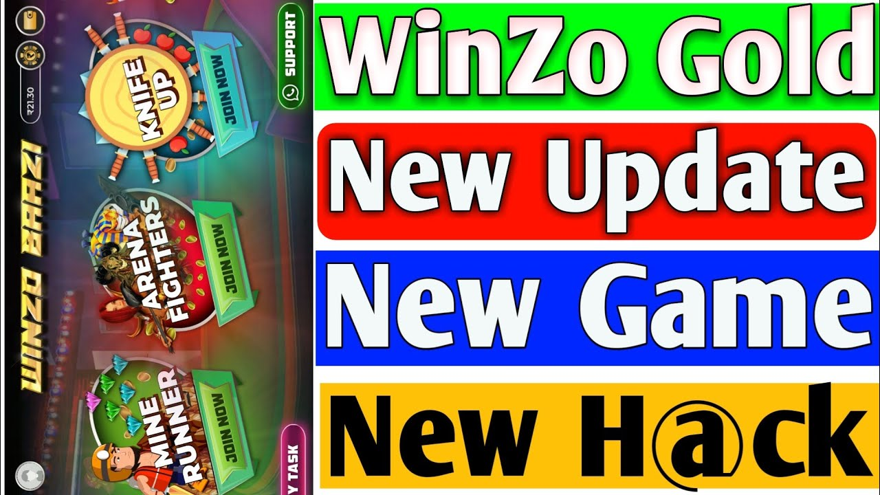WinZo Gold New Update New Games & New H@ck | WinZo Gold New Update Tricks | TrickySK