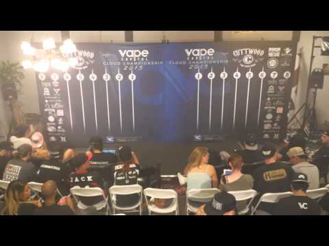 VAPE CAPITOL CLOUD CHAMPIONSHIP FINALS 2015 PRESENTED BY CUTTWOOD