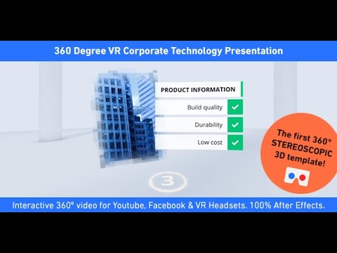 360 degree vr corporate technology presentation | after effects, Presentation templates