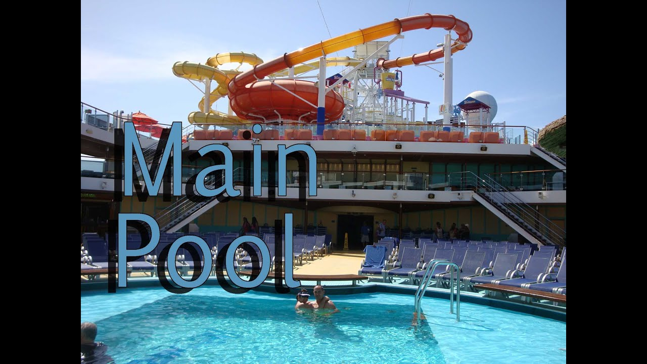 Carnival Cruise BREEZE. Main Pool. 8 Days Southern