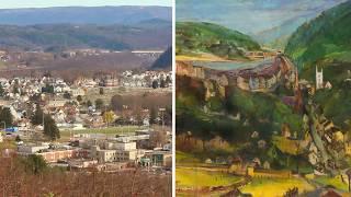 Franz Kline mural restoration: LEHIGHTON
