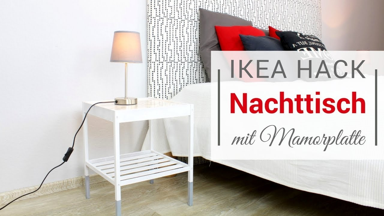 ikea hack: nachttisch für unter 20 euro! - youtube