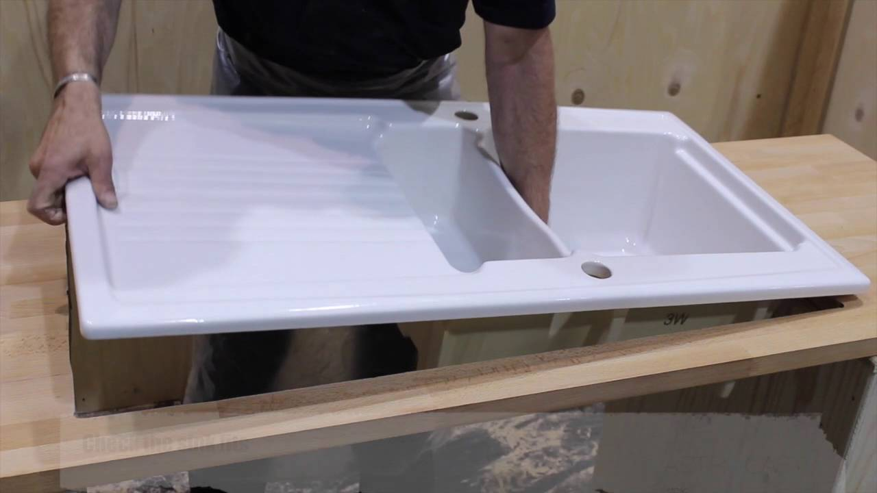 Installing an Astracast Ceramic Sink - YouTube