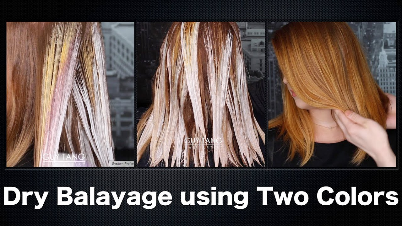 How To Dry Balayage Using Two Colors Youtube