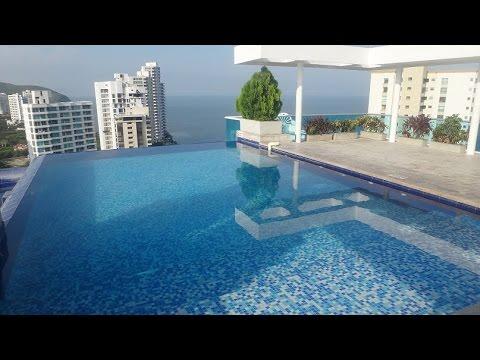 Apartamento con piscina infinita en arriendo por días en Santa Marta