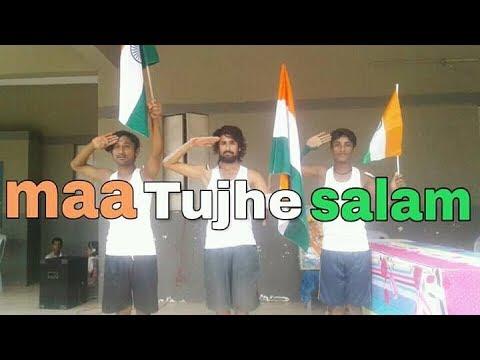 Maa tujhe salaam dance || song || A.R Rahman || dubstep Rahul d Roy