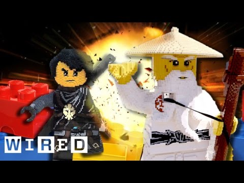 Giant LEGO NINJAGO Brick Battle!