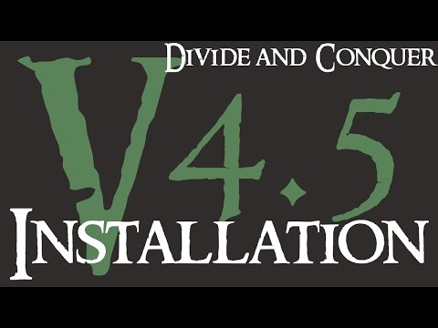 Divide And Conquer V4.5 - Installation Guide