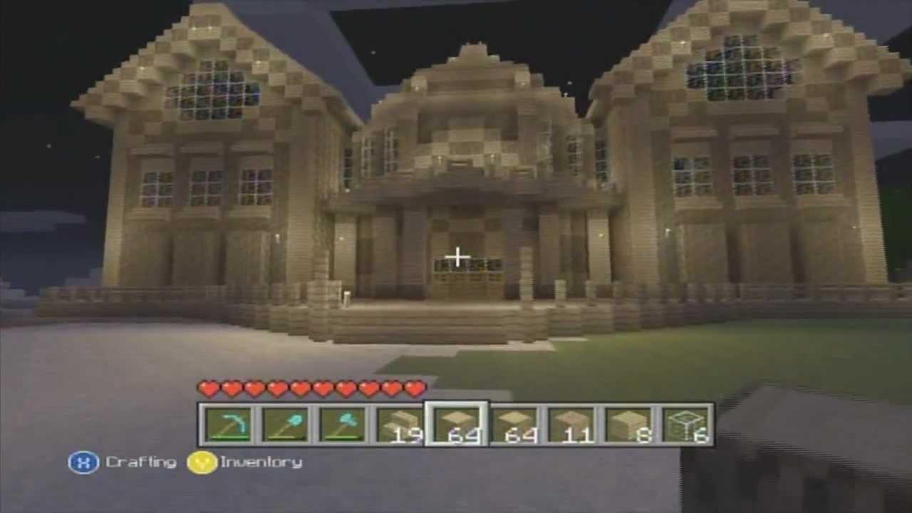 minecraft xbox 360 mansion (mega build) - youtube