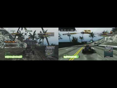 Big Surf Island Online% 2p 4:57.77 Split Screen W/ Themorgue - Burnout Paradise Remastered PS4