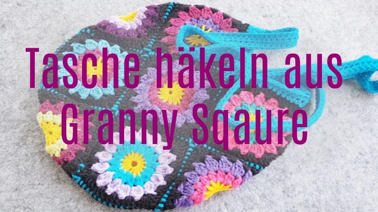 DIY ✿ Tasche aus Granny Square häkeln ✿ Häkeln für Anfänger ...
