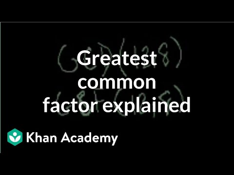 Greatest Common Factor Explained | Factors And Multiples | Pre-Algebra | Khan Academy