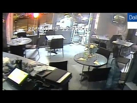 Watch Woman Escape After Paris Attackers Gun Jams in Cafe Surveillance