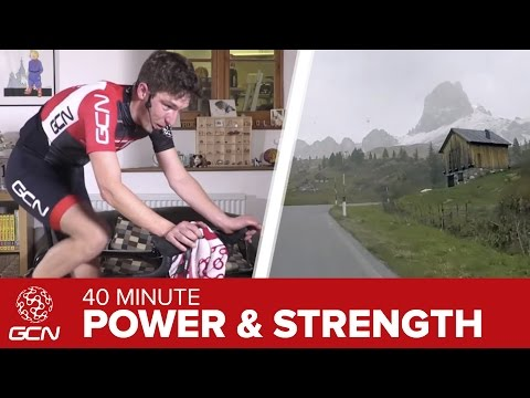 Power & Strength Training: 40 Minute Indoor Cycling Workout – Passo Giau