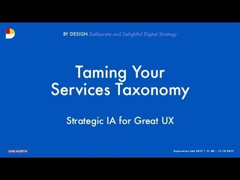 #1NLab17 - Taming your Services Taxonomy: Strategic IA for Great UX