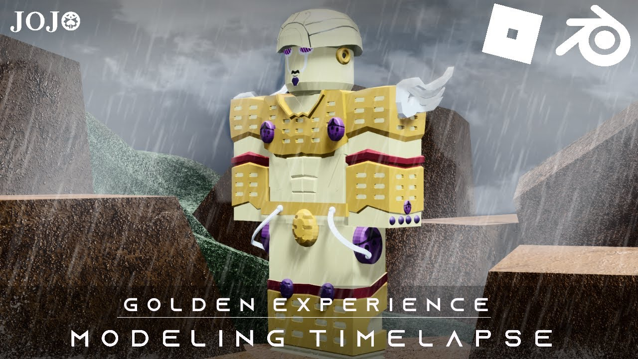 Roblox Modeling Timelapse Part 4 Gold Experience Jojo S