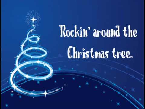 Miley Cyrus - Rockin' Around The Christmas Tree (Lyrics) - YouTube