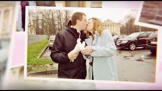 Слайд шоу из фотографий с музыкой на годовщину свадьбы. (i love you, love is)
