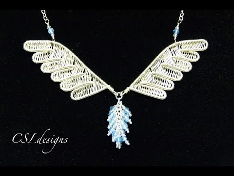 Wirework wings jewellery