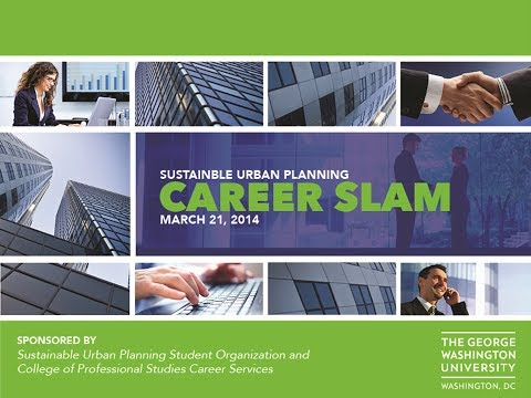 GW Sustainable Urban Planning's Career Slam 2014