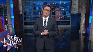 Stephen Colbert Reacts to the State of Emergency in Charlotte