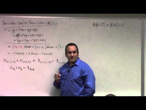 Multivariate Calculus: Lecture 57: introduction to differential forms