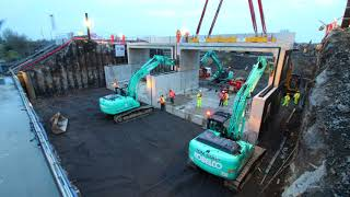 New underbridge installed for road bypass under rail line in one weekend